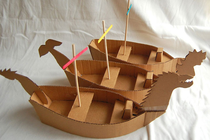 Wonderful Craft Ideas For Kids Part - 11: Ship From A Cardboard