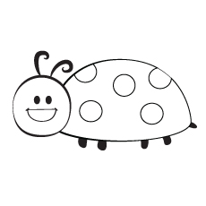 Smile Ladybug to Color