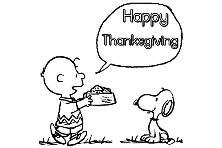 Charlie Brown Thanksgiving Coloring Pages To Print