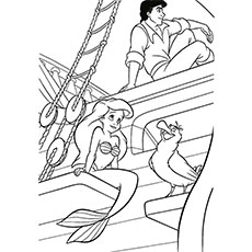 Little Mermaid Spying On Eric Ariel And Friends Coloring Pages