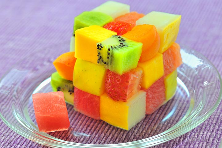 strawberry and kiwi cubes