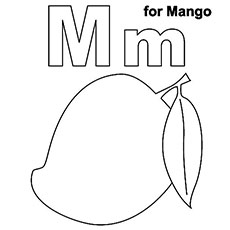 the m for mango - Letter M Coloring Pages