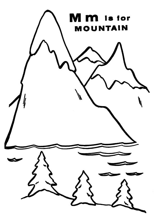 the-'m'-for-mountain-color-page