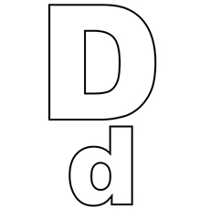 the capital_and_small_d - Letter D Coloring Pages