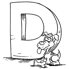 the dog and bone - Letter D Coloring Pages