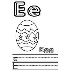 the e or e is for egg
