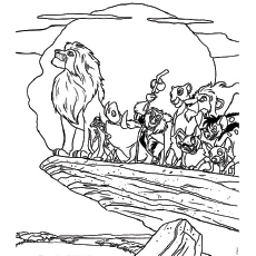 Jungle Folks Picture Of The Lion King Coloring Sheet