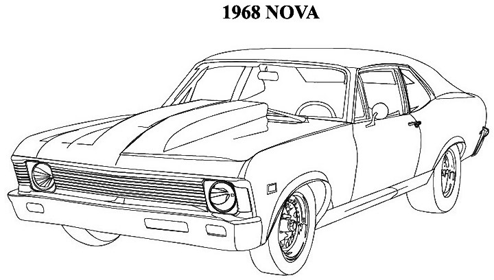 chevy car coloring pages - photo#11