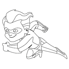the dash parr running at top speed coloring page to print