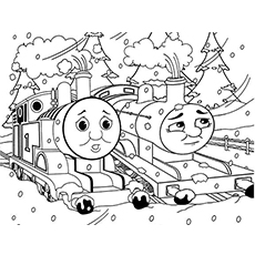 Donald and Douglas Train Coloring Page