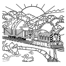 The Duck Character for Thomas the Train Coloring Pages