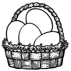 the easter egg basket - Easter Egg Coloring Pages