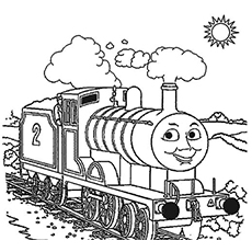 the edward train coloring pages