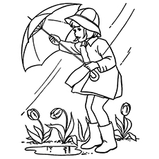 Top 10 Free Printable Rain Coloring Pages Online