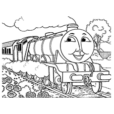 The Gordon Of Thomas the Train to Color