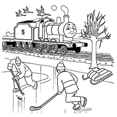 The James Coloring Page from Thomas the Train