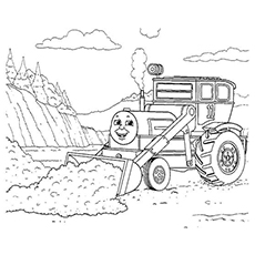 Coloring Pages of Oliver The Excavator