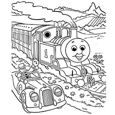 The Percy from Thomas the Train Coloring Pages