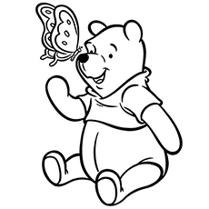 the pooh and butterfly