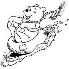 the pooh has fun in the snow