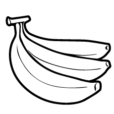 Three Bananas Coloring Page