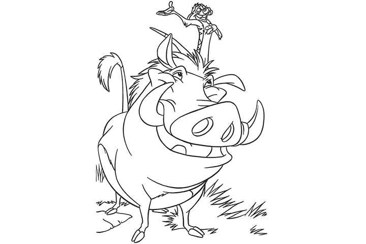 timon and pumba coloring pages - photo#32