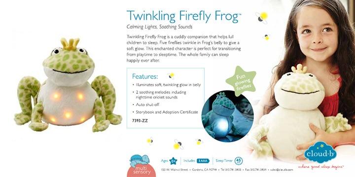 twinkling firefly frog musical nightlight