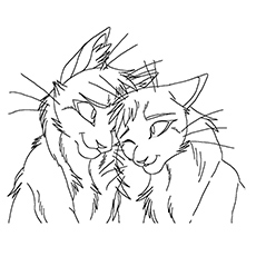 warrior cats coloring pages Coloring Page