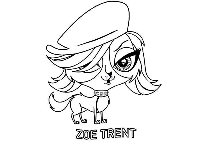 Littlest Pet Shop Coloring Pages Zoe Trent Littlest Pet Zoe Coloring Pages