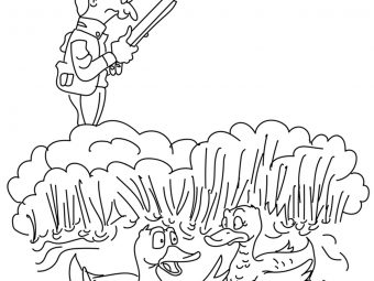 10 Wildlife Hunting Coloring Pages For Your Naughty Kids