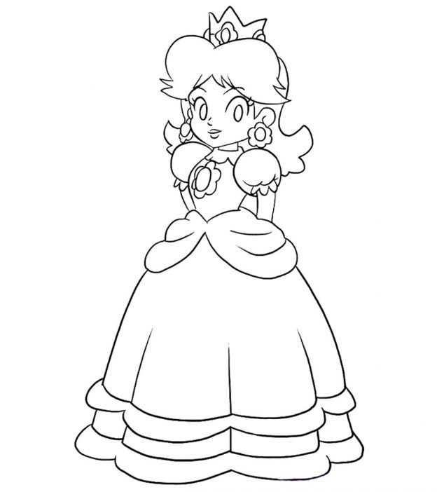 normal princess coloring pages | 25 Best 'Princess Peach' Coloring Pages For Your Little Girl