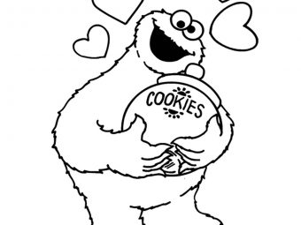 25 Cute & Funny Cookie Monster Coloring Pages Your Toddler Will Love