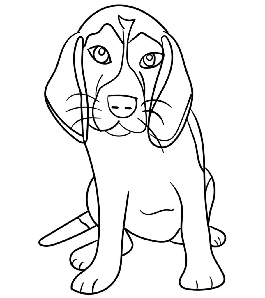 coloring in pages of dogs | Top 25 Free Printable Dog Coloring Pages Online