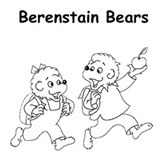 a berenstain bears apple - Berenstain Bears Coloring Book