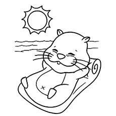 A-Best-Hamster-a-colouring-page-sun