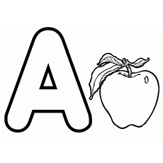 a for apple printable coloring pages - Apples Coloring Pages