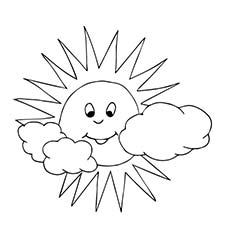 A Little Sun Coloring Pages