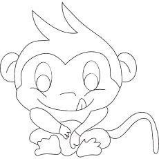 A Night Monkeys coloring pages