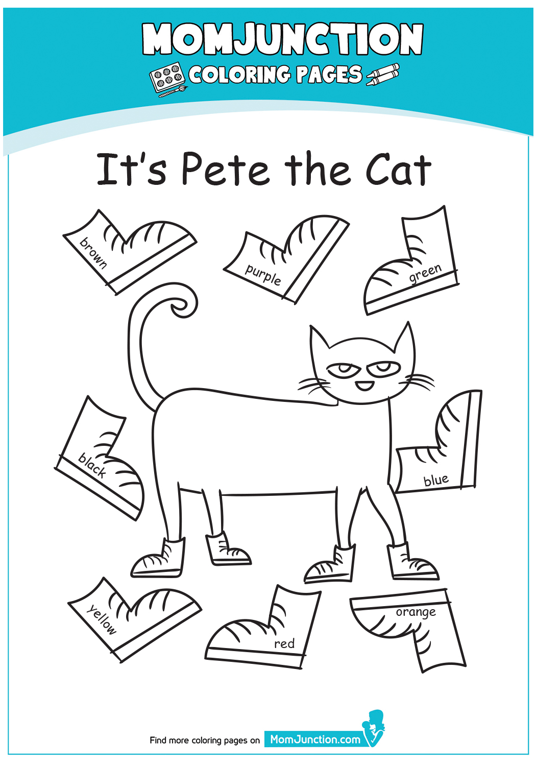 A-Pete-The-Cat-Coloring-Pages-green