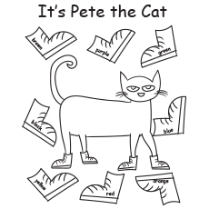 picture regarding Pete the Cat Shoes Printable identify Greatest 21 Free of charge Printable Pete The Cat Coloring Webpages On-line