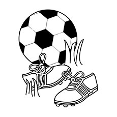 Soccer Shoes and Ball Coloring Pages