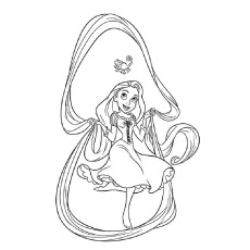 Rapunzel's Tangled Poster Coloring Pages