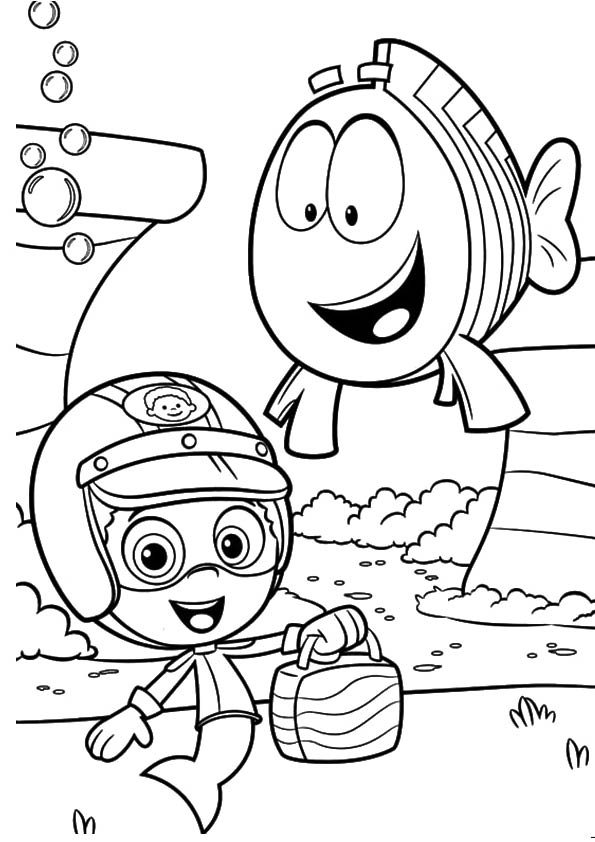 A-bubble-guppies-fish