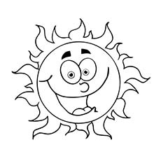 a coloring laughing sun - Sun Coloring Page