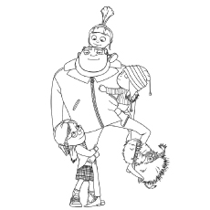 A despicable me st Coloring Pages