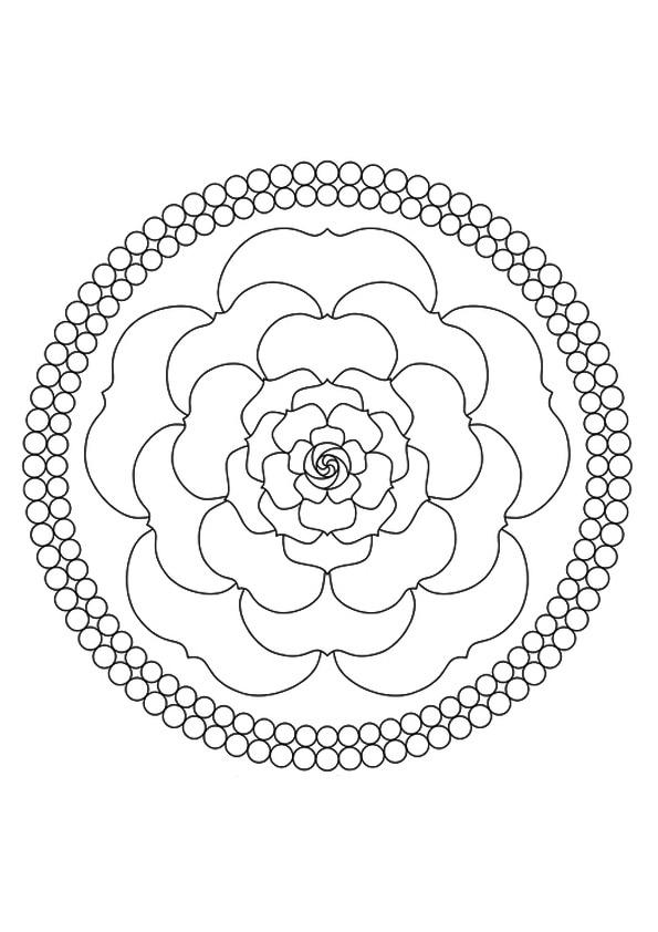 A-mandala-rose