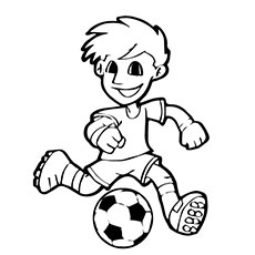 soccer player with ball printable popular soccer ball shoes coloring pages