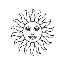 Sun Coloring Pages - Free Printables - MomJunction
