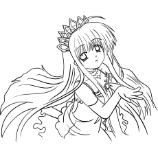 Aanime Princess coloring sheet for kids