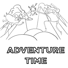 Adventure Time coloring Printable Images